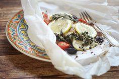 Greek Fish en Papillote - The Wanderlust Kitchen