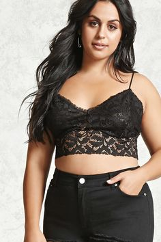 Plus Size Lace Bralette