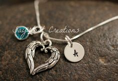 Sterling Silver Mini Initial Charm Necklace by SayWhatCreations, $36.00