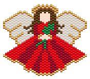 X-Mas Angel, Sova Enterprises Peyote Patterns, Beading Patterns, Cross Stitch Patterns, Stitch Crochet, Beaded Angels, Beaded Christmas Ornaments, Christmas Stockings, Beaded Crafts, Peyote Beading