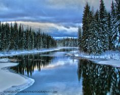 ***Waskesiu River (Prince Albert National Park, Saskatchewan) by Bob Ferguson c. Great Places, Places To See, Beautiful Places, O Canada, Parks Canada, Saskatchewan Canada, Western Canada, Winter Scenes, The Great Outdoors
