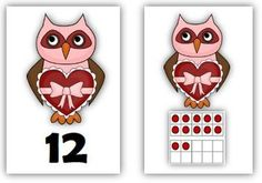 Common Core: Number Cards to 120, Hooo Loves You? w/Activities. These number cards blend two favorites--owls and Valentine's Day    Themed set includes:  --> Number cards from 1 to 120  --> Ten-frame cards showing numbers from 1 to 20  --> MORE or LESS cards (10 more, 10 less, 1 more, 1 less)  --> Themed 120 Chart  --> Instructions with CCSS alignment for 19 K-2 activities for using the cards $