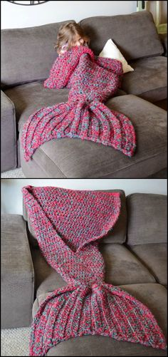 Is it cold in your part of the world now? Here's a DIY blanket that might interest you!  http://craft.ideas2live4.com/2015/12/11/crocheted-mermaid-tail-blankets/  This crocheted mermaid tail blanket is just perfect for keeping your legs warm without having to crawl back to bed. Also, they're nicer to see in the living room than a bed blanket. ;)  Get more DIY mermaid tail blanket inspiration from the album on our site and learn how to make it!: