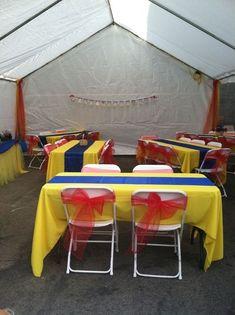 Table Decor Snow White Birthday Simple DIY