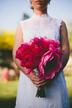 Lovely large pink wedding  boquet Photography