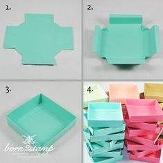 61 ideas diy gifts box stampin up Diy Gift Box, Diy Box, Diy Gifts, Gift Boxes, Cardboard Box Crafts, Paper Crafts Origami, Card Tutorials, Diy Birthday, Birthday Gifts