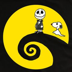 Limited edition Nightmare Before Christmas Charlie Brown Snoopy Mash Up Tshirt