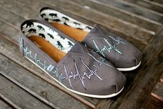 EKG Heartbeat Toms by BStreetShoes on Etsy, $129.00