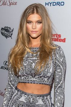 Model Nina Agdal's bronzy skin and just-the-right-amount-of-messy hair.