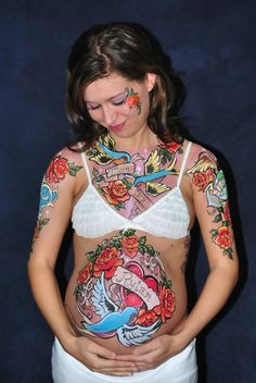 Beautiful Belly Painting Body Art