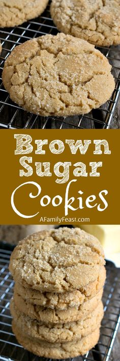 Brown Sugar Cookies are a clever twist on the traditional sugar cookie recipe thanks to some simple swaps that add great flavor! Also known as ELSA cookies Oreo Dessert, Cookie Desserts, Just Desserts, Delicious Desserts, Yummy Treats, Sweet Treats, Cookie Table, Holiday Desserts, Brown Sugar Cookies