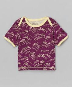 Purple Waves Organic Tee - Infant & Toddler by Paper Cloudz #zulily #zulilyfinds