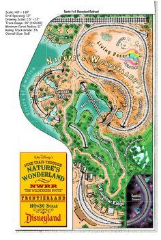 Model railroad layout based on Disneyland's Mine Train Through Nature's Wonderland by Dave Meek.