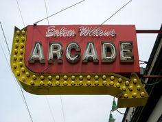 Salem Willows Arcade Sign by Mod Betty / RetroRoadmap.com, via Flickr