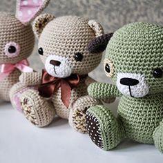 3 Cuties amigurumi crochet pattern by lilleliis