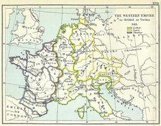 :Western Empire as divided at Verdun 843.jpg_> LECHS ( Lechici) ancient Poland !_