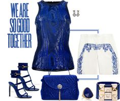 """""""Blue and white"""" by riquee ❤ liked on Polyvore"""