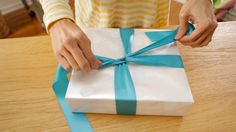 Gift Wrapping Video Tutorials: How to Tie a Bow #Hallmark #HallmarkIdeas BEST TUTORIAL EVER