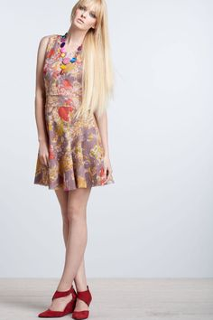 Anthropologie Smoky Lilies Lace Dress Size 4, Floral Flared By Gregory Parkinson #GregoryParkinson #Sundress #Casual