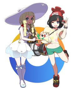 Pokemon Sun and moon trainer and Lillie