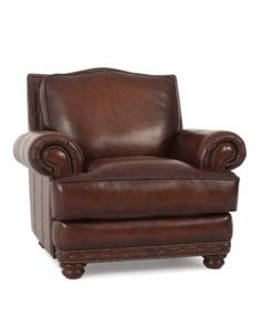 """Bryce Leather Living Room Chair, 44""""W x 41.5""""D x 39""""H - Chairs & Recliners - furniture - Macy's"""