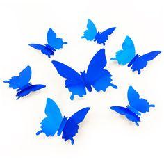 Fancy D Schmetterlinge er Set Wandtattoo Wandsticker Wanddeko gelb D d and Dekoration