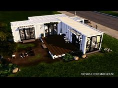 The Sims 4: Shipping Container House - YouTube