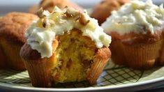 Mrkvové mafiny s krémom Cap Cake, Meatloaf, Bon Appetit, Scones, Mashed Potatoes, Carrots, Cake Recipes, Cheesecake, Food And Drink