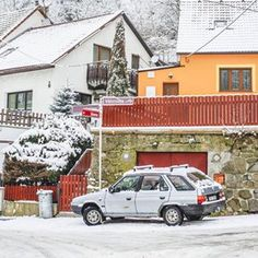 Nostalgia. Třebíč, Czech Republic   _________  #90s #retro #winter #skoda #car #snow #smalltown #europe #streets #trebic #czechrepublic #czechcar #nostalgia Czech Republic, Small Towns, Nostalgia, Europe, Snow, Retro, Winter, Car, Outdoor