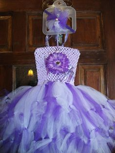Pettie Tutu Dress/ Pretty in Purple & Lavender by mapymorales, $23.00