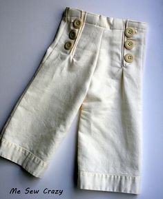 Sailor Pants... would be so cute on a lil girl with a flower shirt... okay got to make