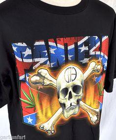 Pantera Skull Confederate CFH Weed '2k USA Concert Tour NOS T-shirt XL Dimebag