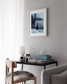 The new 'Nightfall' art print in collaboration with in my living room corner - happy Sunday ! Note Design Studio, Notes Design, Jotun Lady, Green Wall Color, Wall Decor Design, Room Corner, Minimal Home, Workspace Inspiration, My Living Room