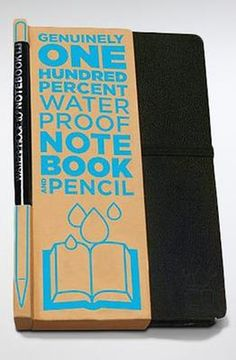 0aafc3ab245d The 100% Waterproof Notebook -- I want this to keep in my shower to