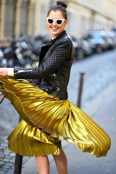 e30ddf0dc Gold Pleated Skirt, Metallic Skirt, Pleated Skirts, Metallic Gold, Fall  Skirts,