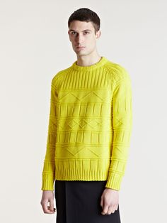 Gosha Rubchinskiy Mens Raised Knit Sweater