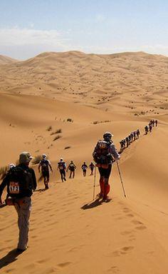 Marathon Des Sables - the toughest footrace on Earth, set in the Sahara desert http://whenonearth.net/marathon-des-sables-killer-race-sahara/