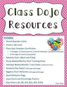 Class Dojo Behavior Management Resources - (Over 40 Pages!)