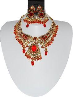 Bollywood Style Indian Imitation Necklace Set / AZBWBR026-GRD Arras Creations http://www.amazon.com/dp/B00IH72QBE/ref=cm_sw_r_pi_dp_73iLub1Q0VJ12
