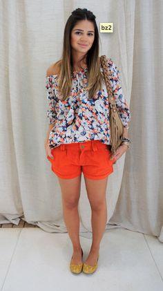 orange shorts Orange Shorts, Hair And Nails, Bermuda Shorts, My Style, Outfit, Face, Ideas, Women, Fashion