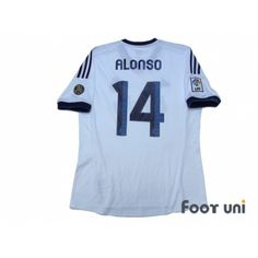 ad574e5a49c Real Madrid 2012-2013 Home Shirt  14 Xabier Alonso 110 ANOS 1902-2012 Patch Badge  LFP Patch Badge