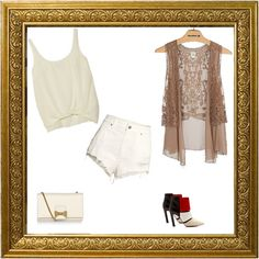 vintage casual with a twist - Polyvore
