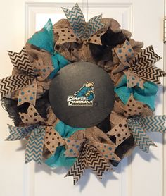 Coastal Carolina University burlap wreath                                                                                                                                                      More