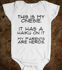 HAIKU one-piece - glamfoxx.com - Skreened T-shirts, Organic Shirts, Hoodies, Kids Tees, Baby One-Pieces and Tote Bags