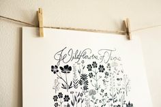Wildflowers of Texas Poster by leahduncan on Etsy