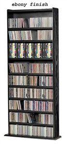 Storage Shelf Unit for CDs, DVDs, VHS tapes