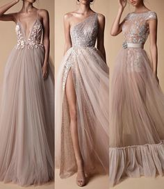 I can't choose which one i like the most! Elegant Dresses, Formal Dresses, Wedding Dresses, Plus Size Gowns, Gala Dresses, Beautiful Gowns, Dream Dress, Marie, Ball Gowns