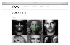 Logo and website designed by Face for tour management agency Motion Music. #Branding #Design #Website