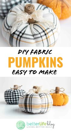 Diy Pumpkin, Pumpkin Crafts, Fall Crafts, Halloween Crafts, Holiday Crafts, Diy Crafts, Christmas Fabric Crafts, How To Make Pumpkin, Halloween Tricks