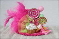 Candyland Inspired Mini Top Hat Headband or fascinator